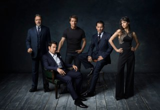 (L-r) Russell Crowe, Javier Bardem, Tom Cruise, Johnny Depp and Sophia Boutella of Universal's Dark Universe
