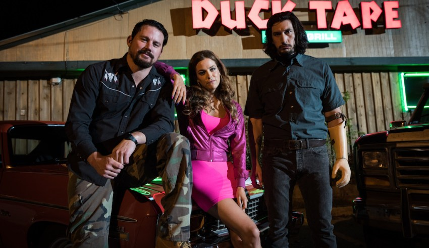 (L-r) Channing Tatum, Riley Keough and Adam Driver star in Bleecker Street's LOGAN LUCKY