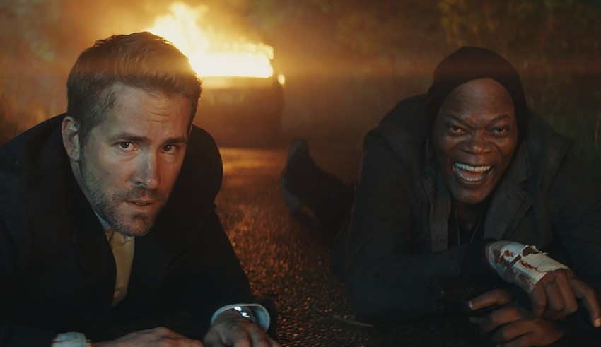 Ryan Reynolds and Samuel L. Jackson star in Lionsgate's THE HITMAN'S BODYGUARD