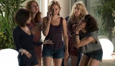 (L-r) Zoe Kravitz, Jillian Bell, Scarlett Johansson, Kate McKinnon and Illana Grazer in Columbia Pictures' ROUGH NIGHT