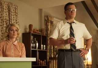 (L-r) Julianne Moore and Matt Damon star in Paramount Pictures' SUBURBICON