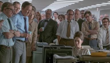 (L-r) David Cross, Tracy Letts. Tom Hanks, Meryl Streep), Bradley Whitford, Philip Casnoff, Brent Langdon and Carrie Coon star in Twentieth Century Fox's THE POST