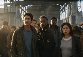 (L-R) Dylan O'Brien, Thomas Brodie-Sangster, Giancarlo Esposito, Dexter Darden and Rosa Salazar star in 20th Century Fox's MAZE RUNNER: THE DEATH CURE