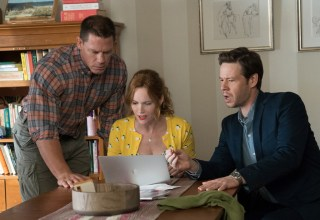 (L- R) John Cena, Leslie Mann and Ike Barinholtz star in Universal Pictures' BLOCKERS