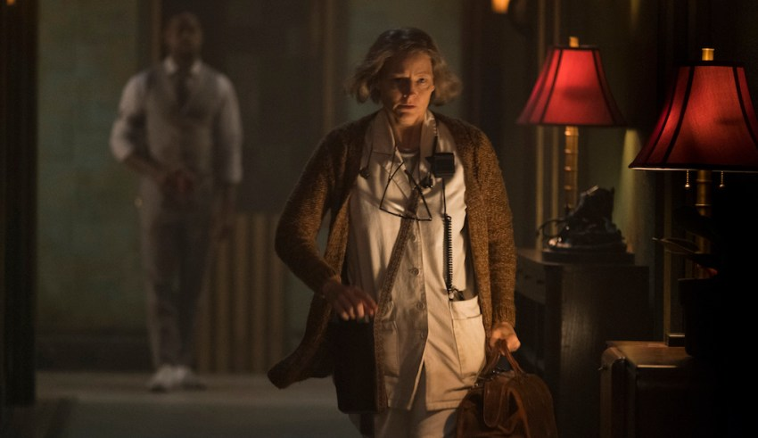 Sterling K. Brown and Jodie Foster in Global Road Entertainment's HOTEL ARTEMIS