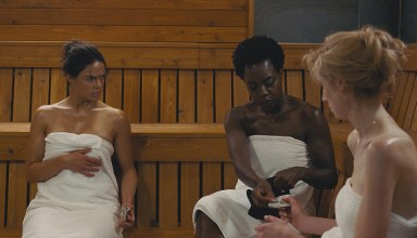 (L-R) Michelle Rodriguez, Viola Davis, and Elizabeth Debicki star in Twentieth Century Fox's WIDOWS