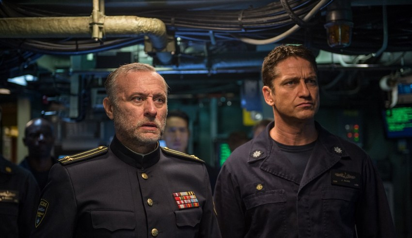 Michael Nyqvist and Gerard Butler star in Liongate's HUNTER KILLER
