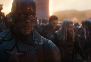(L-R) Chris Evans, Mark Ruffalo, Chris Hemsworth, Robert Downey Jr., Chadwick Boseman star in Marvel's AVENGERS: ENDGAME