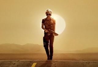 Poster image featuring Linda Hamilton in Paramount Pictures' TERMINATOR: DARK FATE