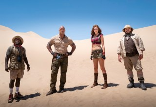 Kevin Hart, Dwayne Johnson, Karen Gillan and Jack Black in Sony Pictures' JUMANJI: THE NEXT LEVEL