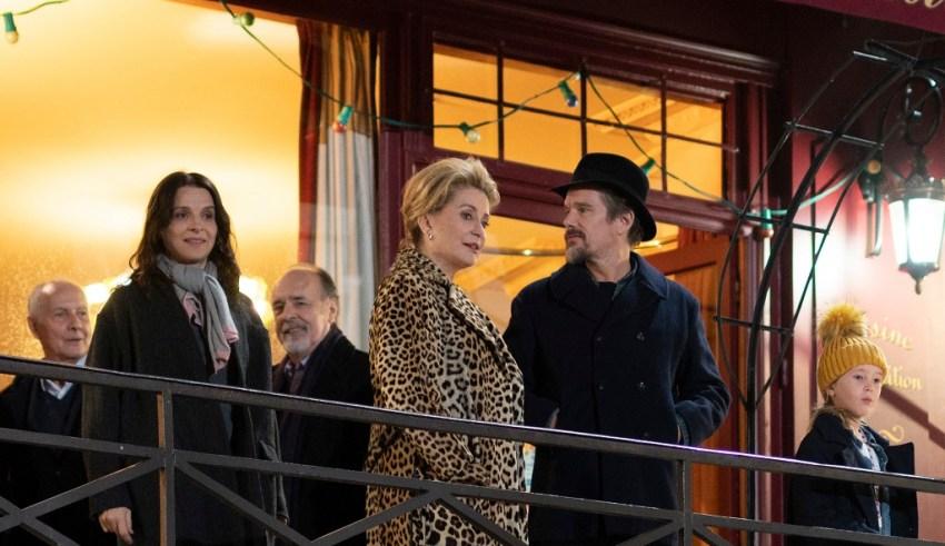 (L-R) Juliette Binoche, Catherine Deneuve, and Ethan Hawke star in IFC Films' THE TRUTH