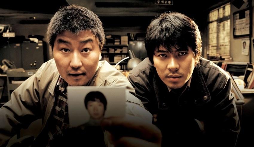 Song Kang-ho and Kim Sang-kyungstar in MEMORIES OF MURDER