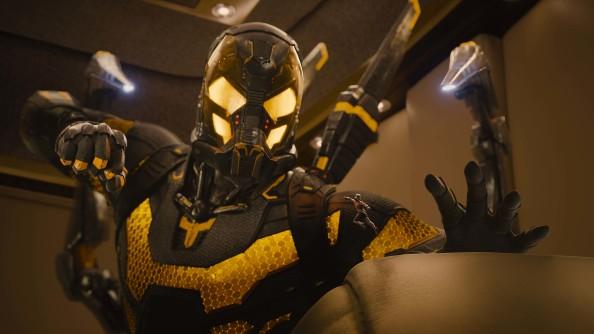 Marvel's Ant-Man L to R: Darren Cross/Yellowjacket (Corey Stoll) & Scott Lang/Ant-Man (Paul Rudd) Photo Credit: Film Frame © Marvel 2015