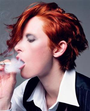 Tilda Swinton como David Bowie - Foto de Craig McDean para Vogue Italia