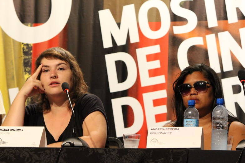 Juliana Antunes (diretora) e Andréia (personagem)