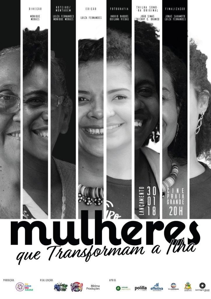 """Cartaz de """"Mulheres que Transformam a Ilha"""""""