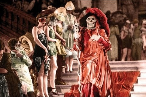 Lon Chaney as the Red Death in the restored color sequence
