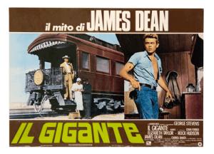 James Dean movie 1956 Giant original filmposter