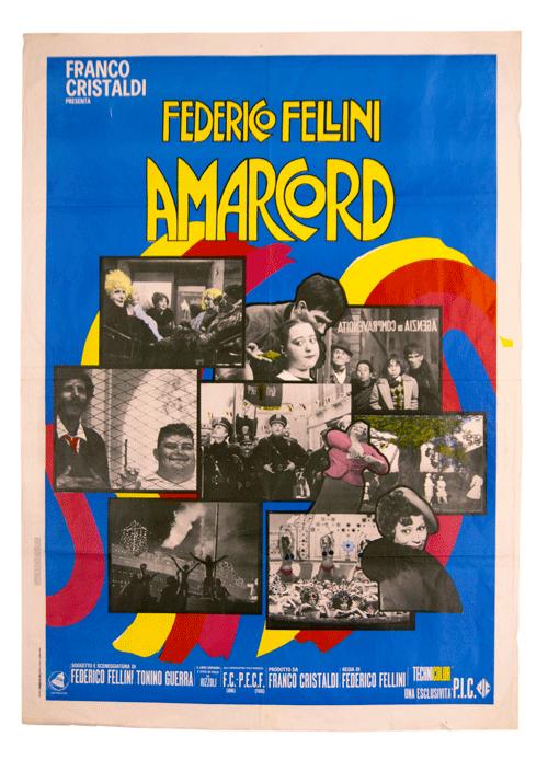Federico Fellini Amarcord original film poster