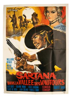 Poster western Sartana dans la vallee des vautours