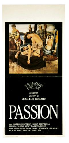 Jean-Luc Godard original poster Passion