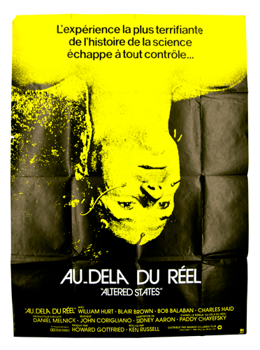 Au dela du reel altered states experimemtal film poster