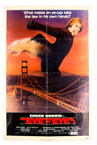 Eye for an eye movie poster Chuck Norris