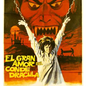El gran amor del conde dracula Spanish horror poster original