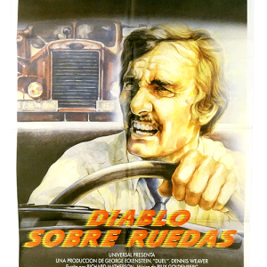 Spanish film poster Duel by Steven Spielberg