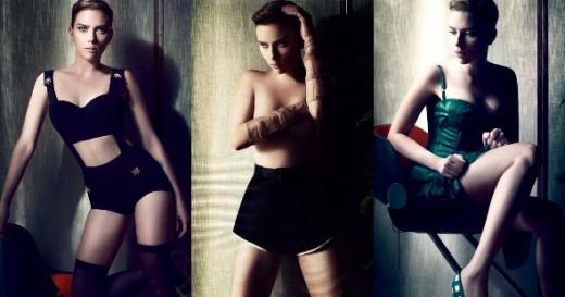Scarlett Johansson semi desnuda