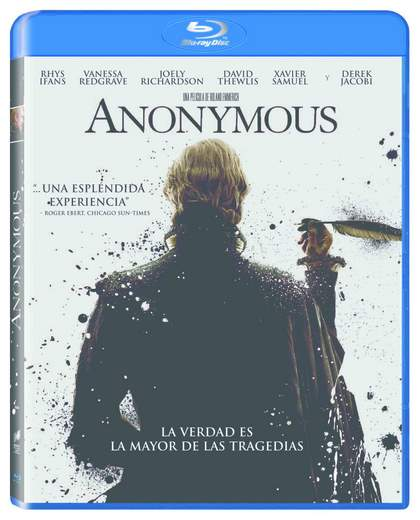Anonymous carátula Blu-Ray.