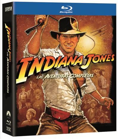 Indiana Jones la saga en Blu-ray.