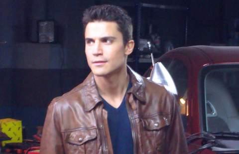 Alex González en el rodaje de 'Combustión'.