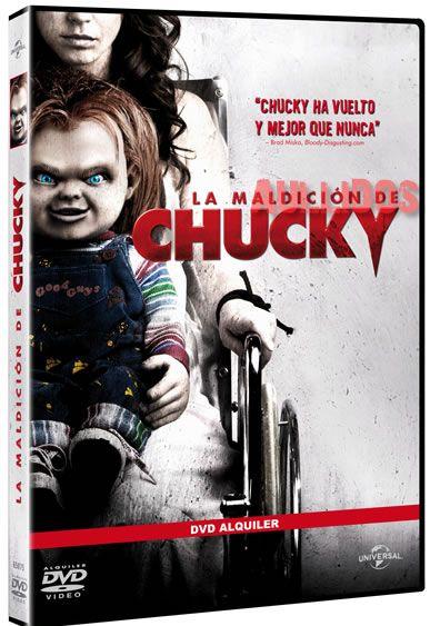 """Carátula DVD """"La Maldición de Chucky""""."""