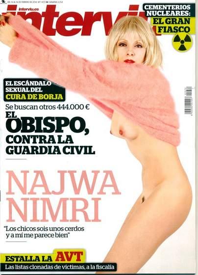 Interviú desnuda a Najwa Nimri