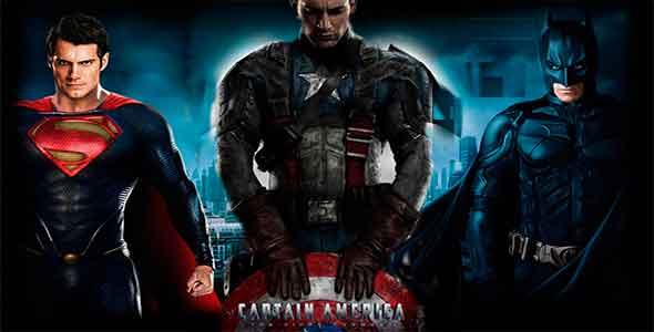 Capitán América contra Superman y Batman