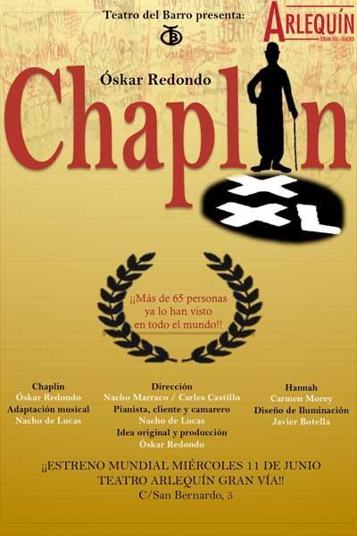Póster de la obra de teatro Chaplin XXL