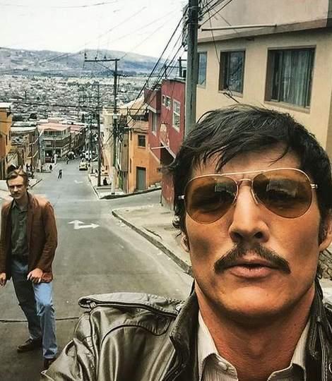 Imagen del rodaje de la serie Narcos