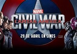 Yelmo Cines y Cineralia te invitan al Primer Pase de Capitán América: Civil War. Terminado