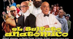 """Cartel de El sulfato anatómico, versión erótica de """"Mortadelo y Filemón"""""""