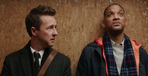 Edward Norton & Will Smith in Collateral Beauty