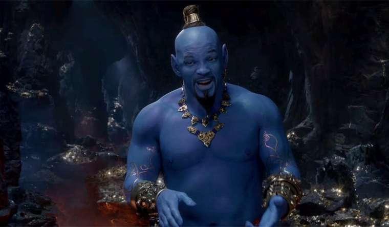 Aladdin, Will Smith, blue, azul, Genio