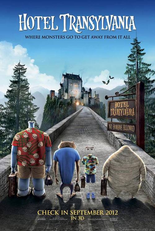 Hotel Transylvania, film animado que reúne a los míticos Drácula, Hombre Lobo y Frankestein lanza afiche