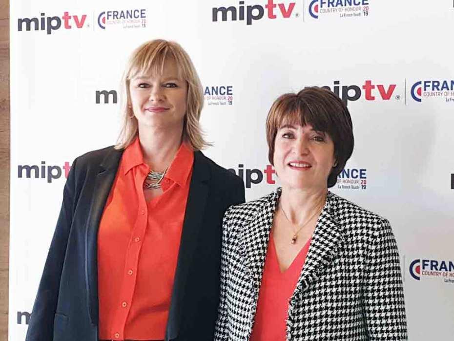 Lucy Smith y Laurine Garaude directoras del MIPTV, el mayor mercado de formatos de la TV