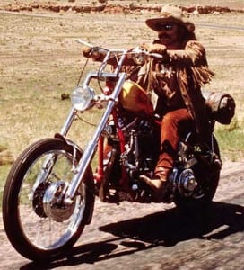 "Dennis Hopper in ""Easy Rider"""
