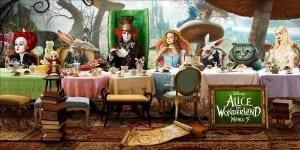 Poster promozionale in banner di Alice In Wonderland