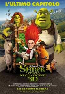 """Locandina finale italiana di """"Shrek e vissero felici e contenti"""""""