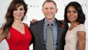 Bèrènice Marlohe, Daniel Craig e Naomie Harris