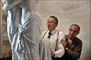 Geoffrey Rush e Giuseppe Tornatore sul set de La migliore offerta