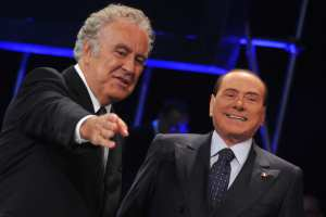 Michele Santoro e Silvio Berlusconi | © TIZIANA FABI/AFP/Getty Images